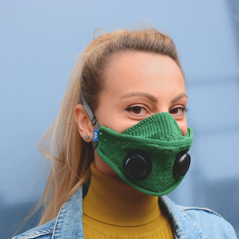 mask, airlief mask, FFP, N95, airlief mask my nature, green